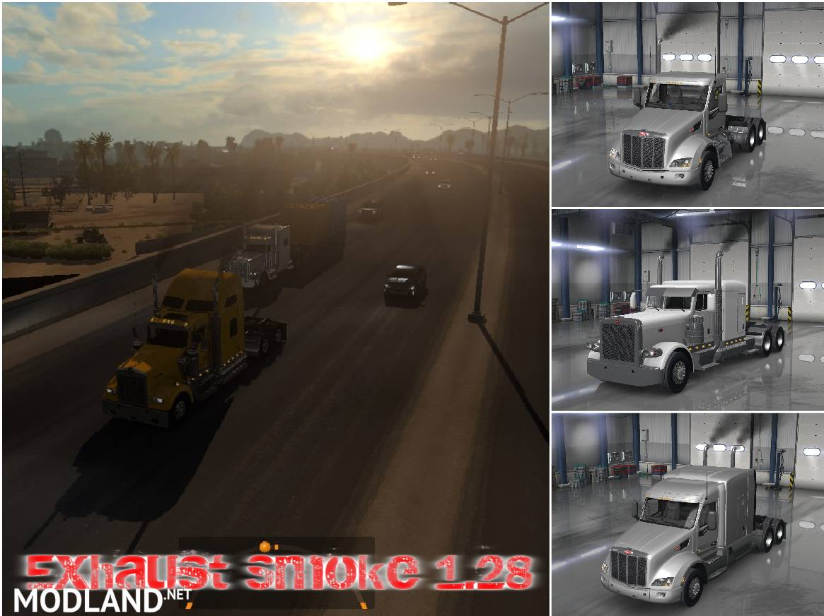 Exhaust Smoke AI Traffic for ATS 1 28 mod for American Truck