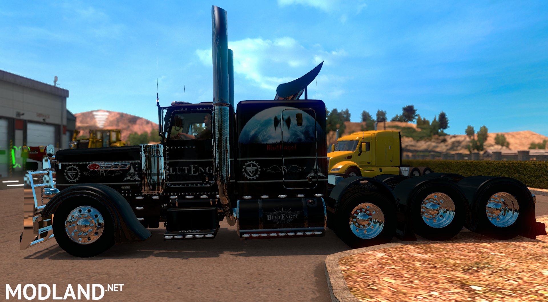 Kenworth Box Truck >> Peterbilt 389 + blutengel skin mod for American Truck Simulator, ATS