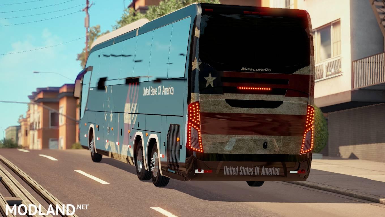 USA Skin For Mascarello Roma BUS mod for American Truck