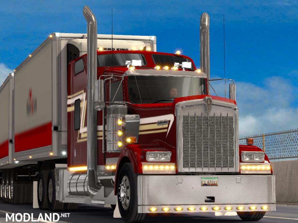 Rain Guards For Trucks >> W900 Extra Accessories mod for American Truck Simulator, ATS