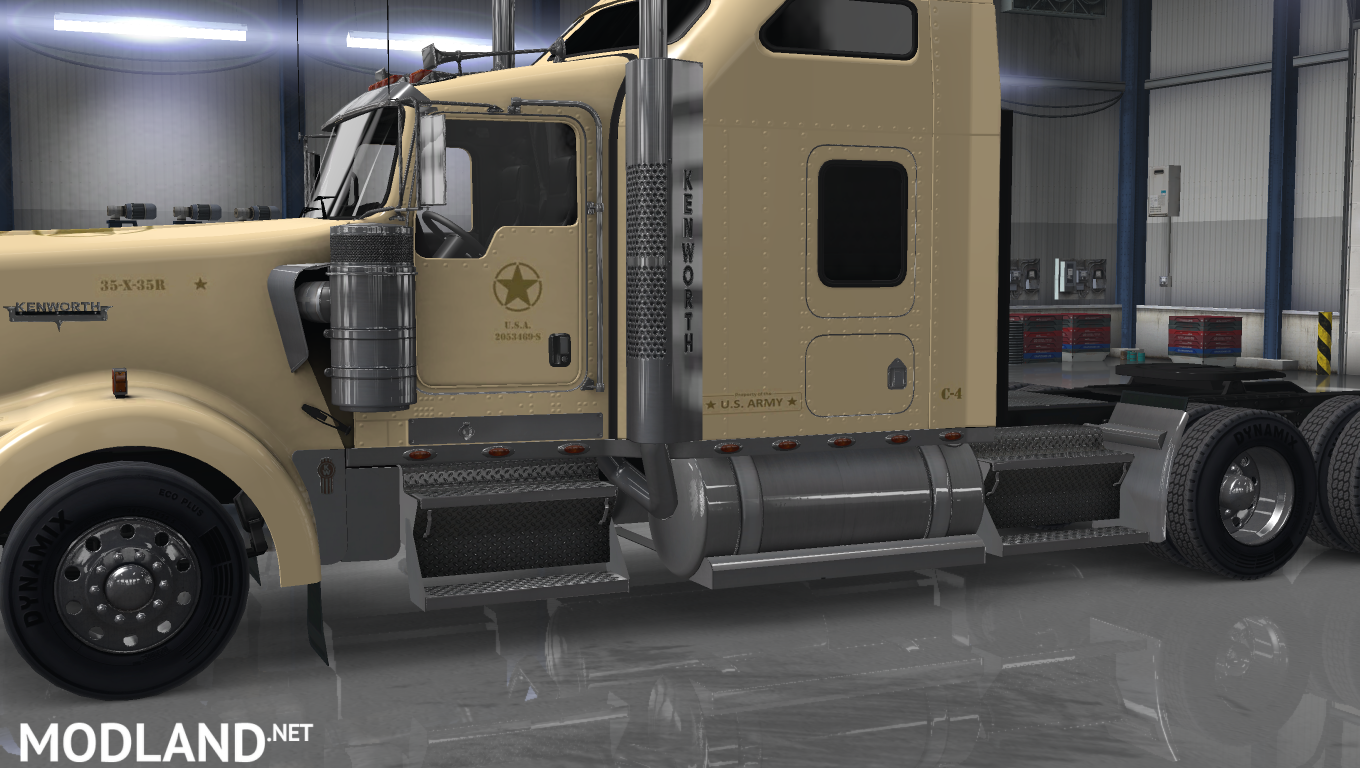 Kenworth W900 US Army Skin: Big-Henk v 1 2 Tan color mod for