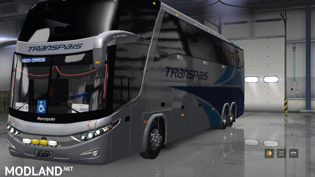 Marcopolo G7 1600 6X2 LD / ATS 1 31 mod for American Truck