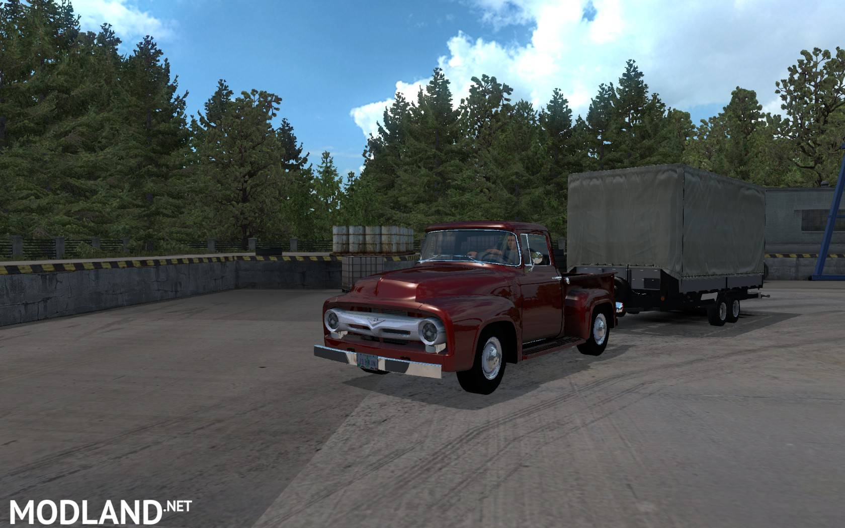Ford F-100 1956 v 1 1 mod for ATS mod for American Truck