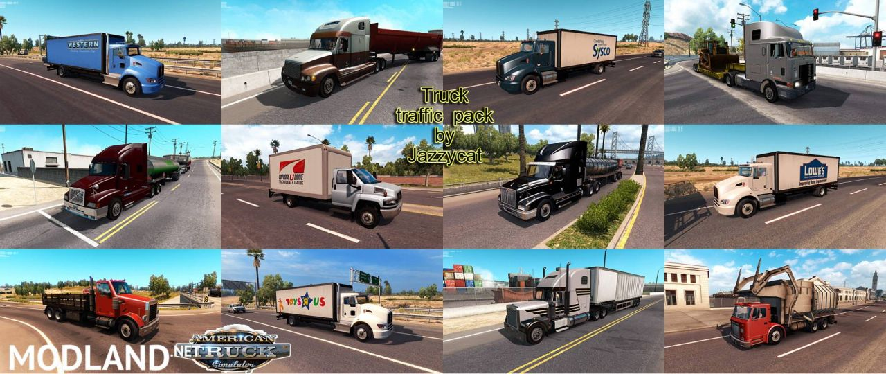 Truck Traffic Pack by Jazzycat