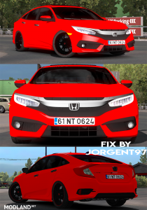 Fix Honda Civic 2017 typeR and Civic Fc5