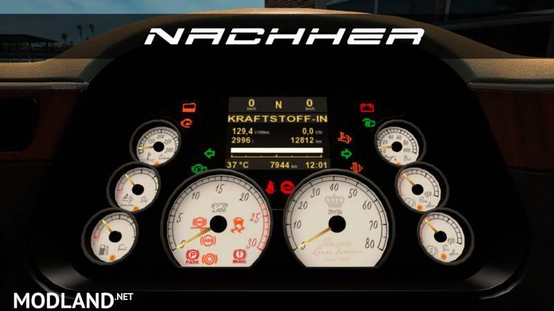 Ford Raptor Interior >> Peterbilt 579 White Luxury Dashboard v 1.0 mod for American Truck Simulator, ATS