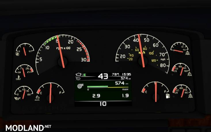 SCS Volvo VNL dashboard 3 1 1 35 x mod for American Truck