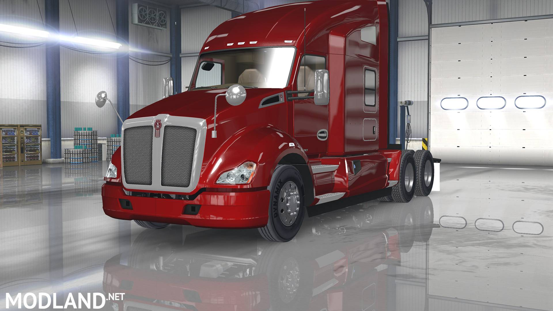 Kenworth T680 Interior Exterior Rework Mod For American
