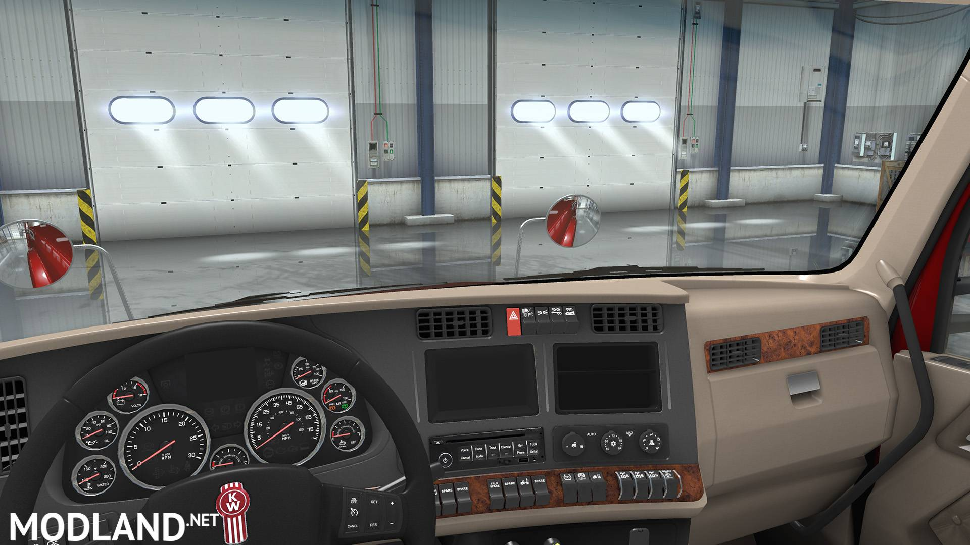Kenworth T680 Interior Exterior Rework Mod For American Truck