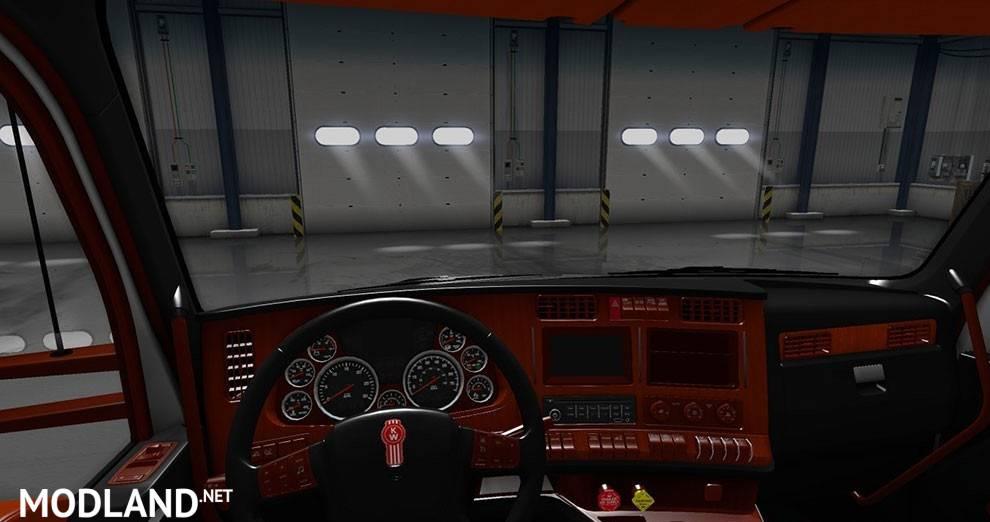 Kenworth T680 Black Orange Interior