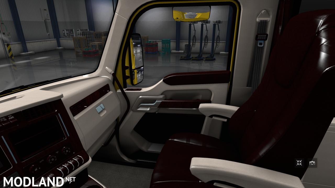 Kenworth T680 White Lux Interior