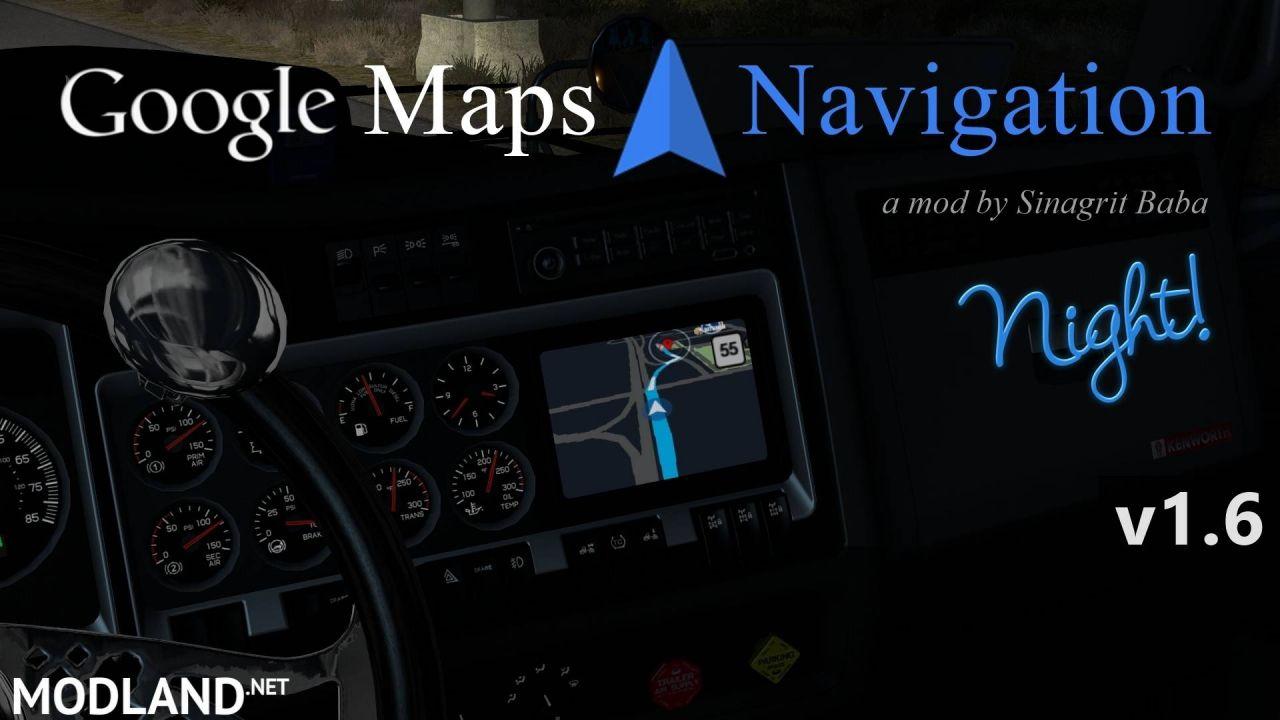 ATS - Google Maps Navigation Night Version