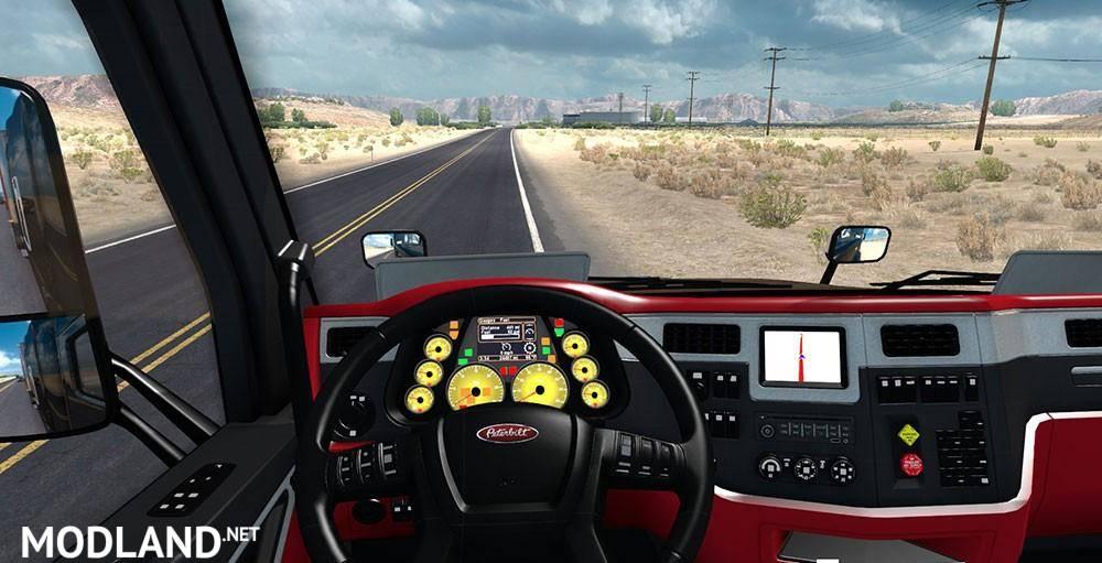 Peterbilt 579 Ferrari Interior FINAL