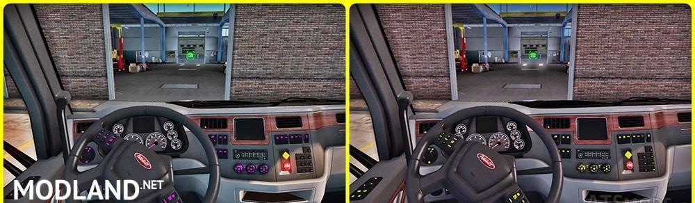 Peterbilt Interior Lighting Mod V 1 1 Mod For American Truck Simulator Ats