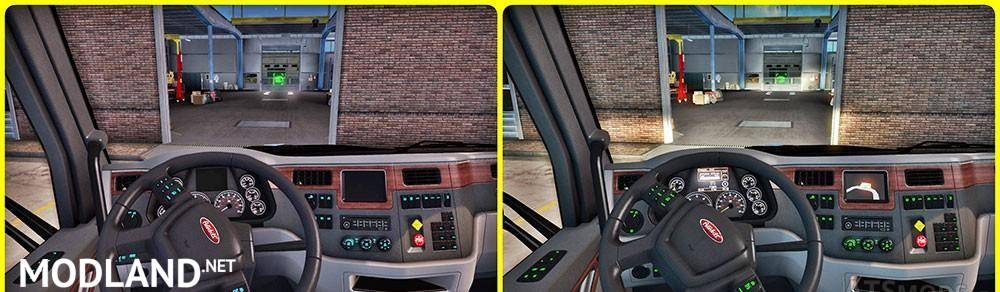 Peterbilt Interior Lighting Mod V 1.1, ...