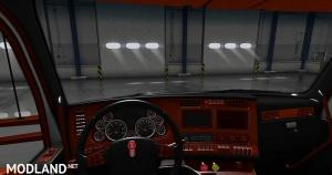 Kenworth T680 Black Orange Interior, 1 photo