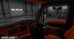 Kenworth T680 Black Orange Interior, 3 photo