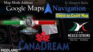 ATS - Google Maps Navigation Normal & Night Version Map Mods Addons