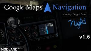 ATS - Google Maps Navigation Night Version v 1.6