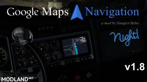 ATS - Google Maps Navigation Night Version v 1.8 - External Download image
