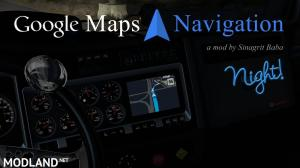 Google Maps Navigation Night Version v2.0