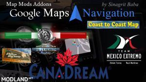 Google Maps Navigation Normal & Night Version Map Mods Addons v6.0