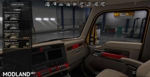 Kenworth T680 interior red, 1 photo