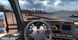 Kenworth T680 White Gauges + Interior v 1.2, 2 photo