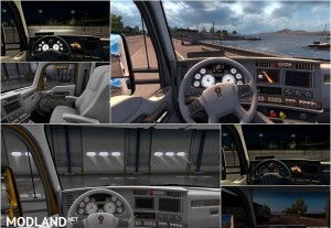Kenworth T680 White Gauges + Interior v 1.2, 1 photo