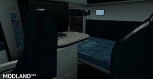 Kenworth T680 White Teal Interior, 3 photo
