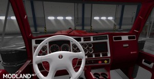 Kenworth W900 Red Interior, 1 photo