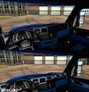Peterbilt 579 Blue & Black Interior