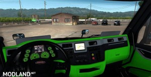 Peterbilt 579 Neon Green interior