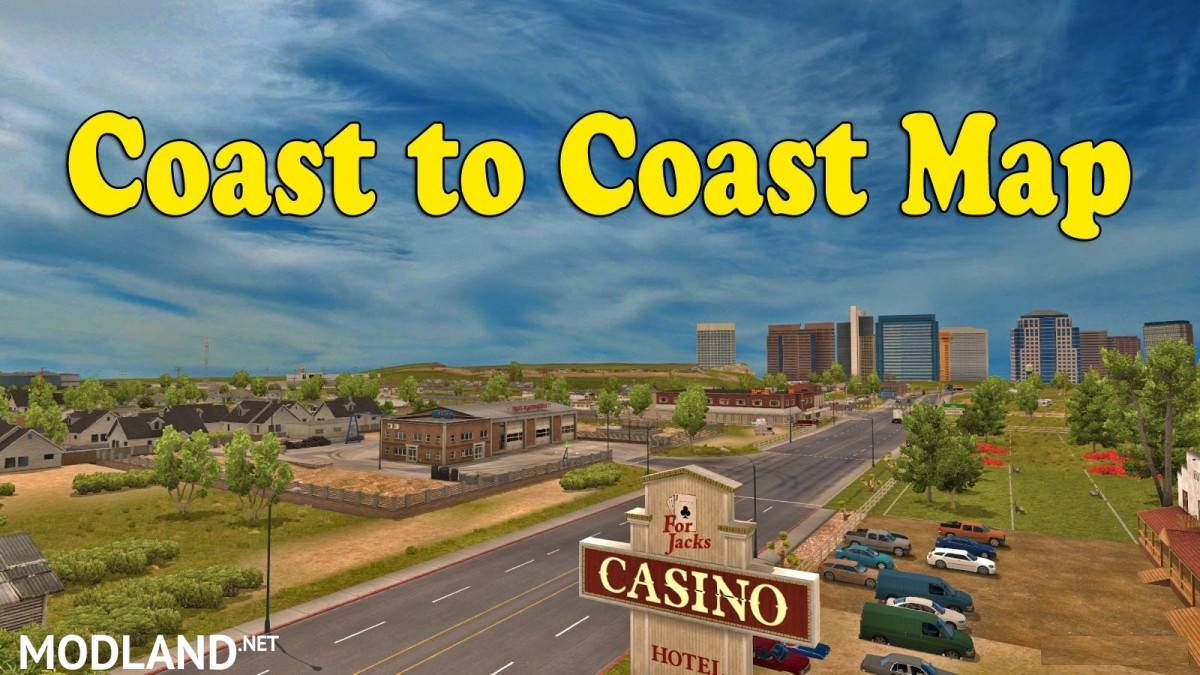 Coast to Coast Map - v2 8 2 1 35 mod for American Truck