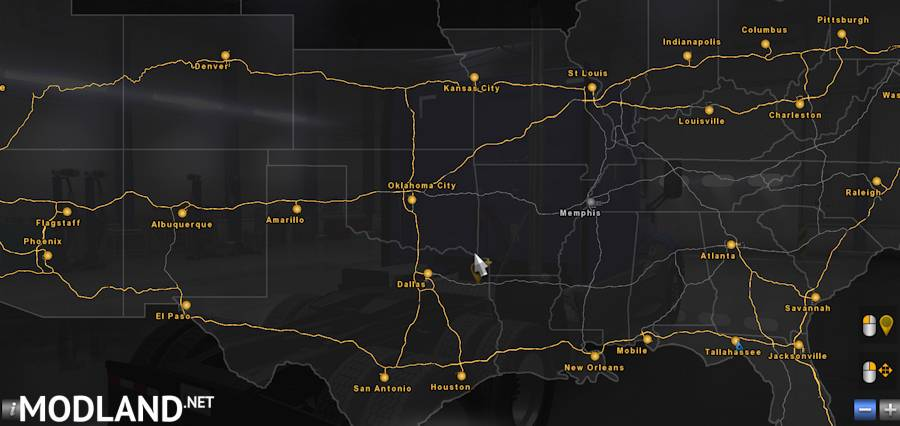 Volvo Of Memphis >> Coast to Coast Map v 1.6 mod for American Truck Simulator, ATS