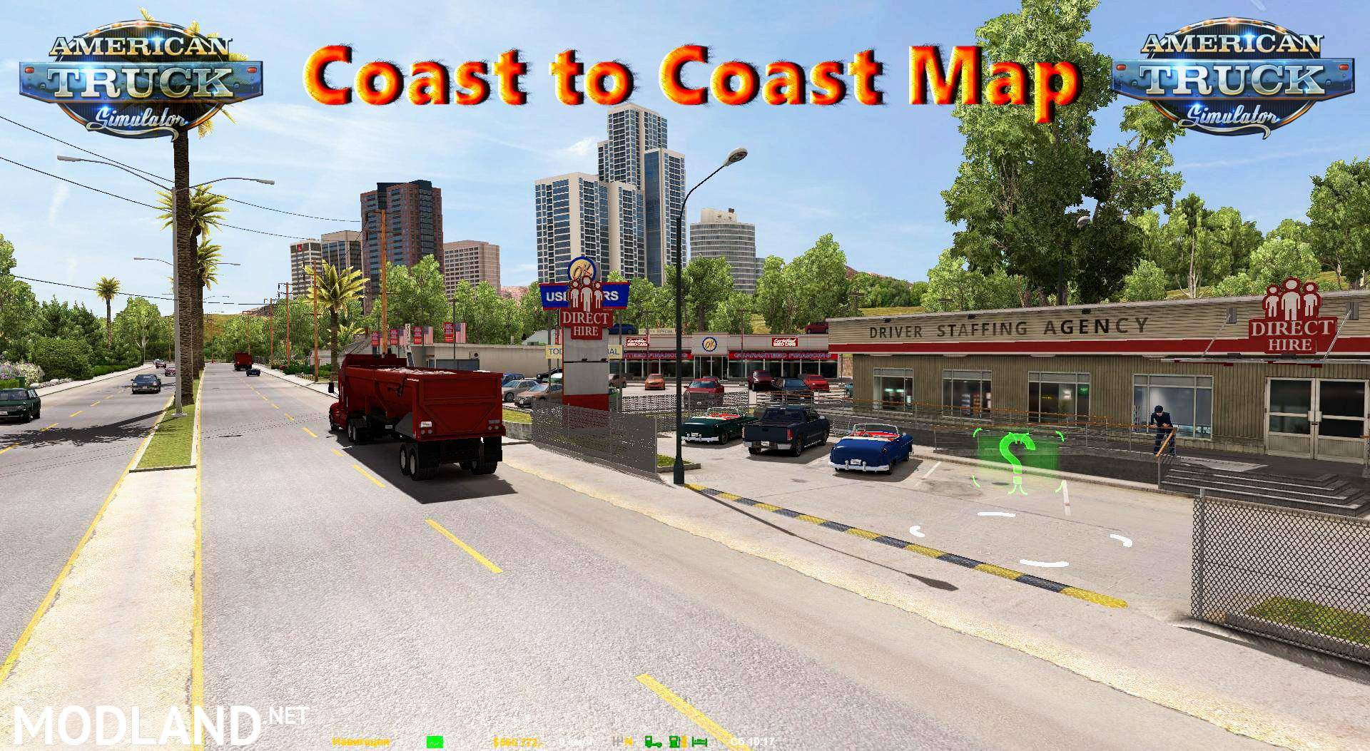 Coast to Coast Map v 241