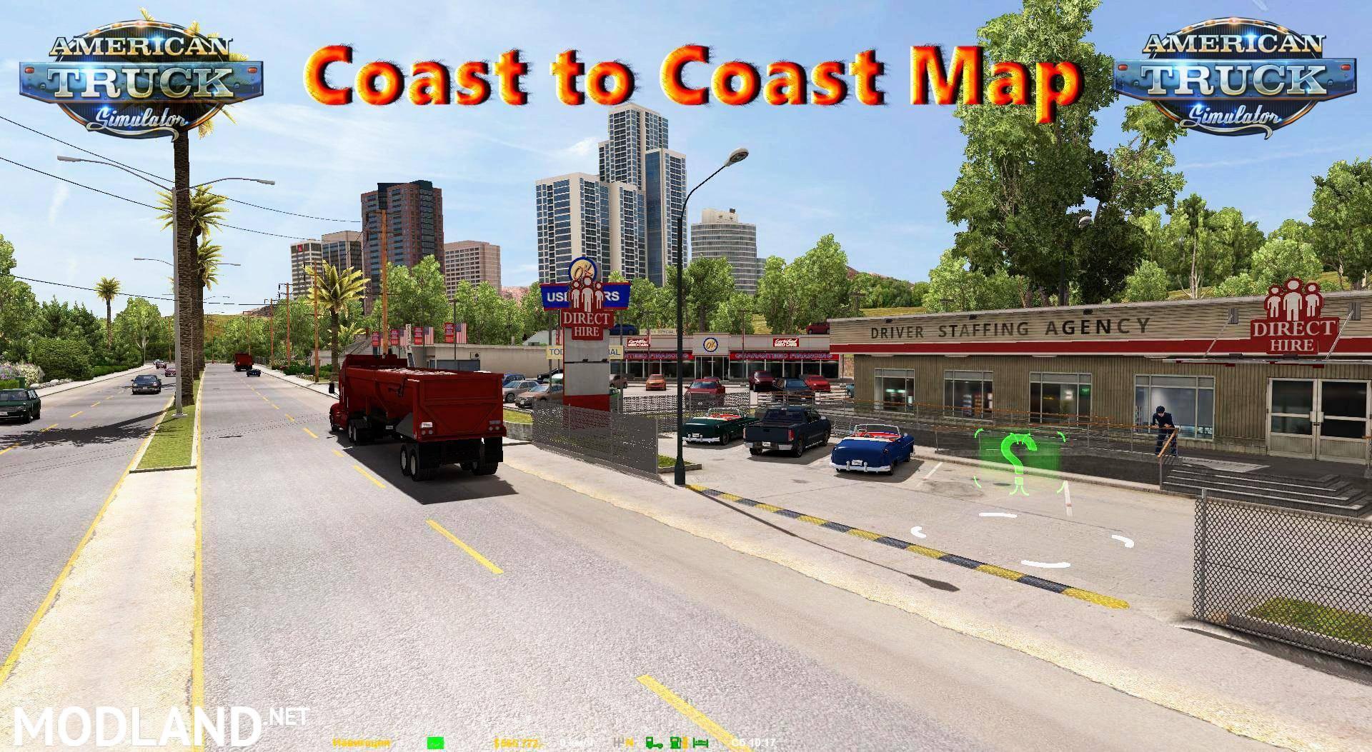 Coast to Coast Map v 25 Coast