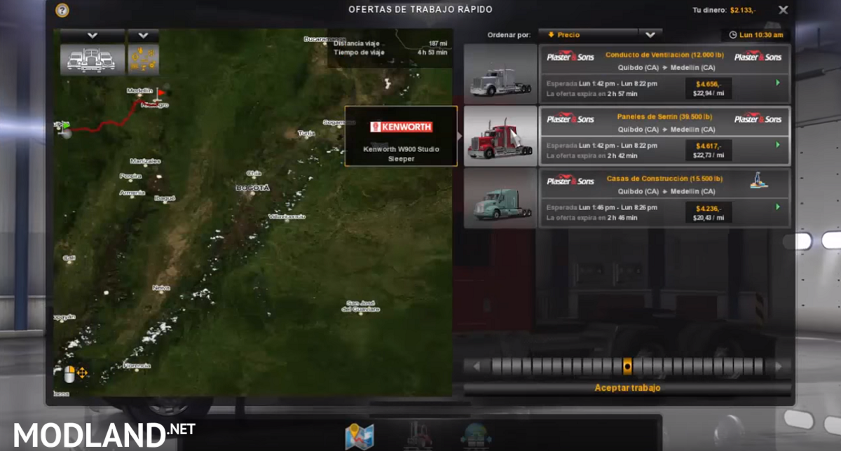 Colombia Map for ATS 128
