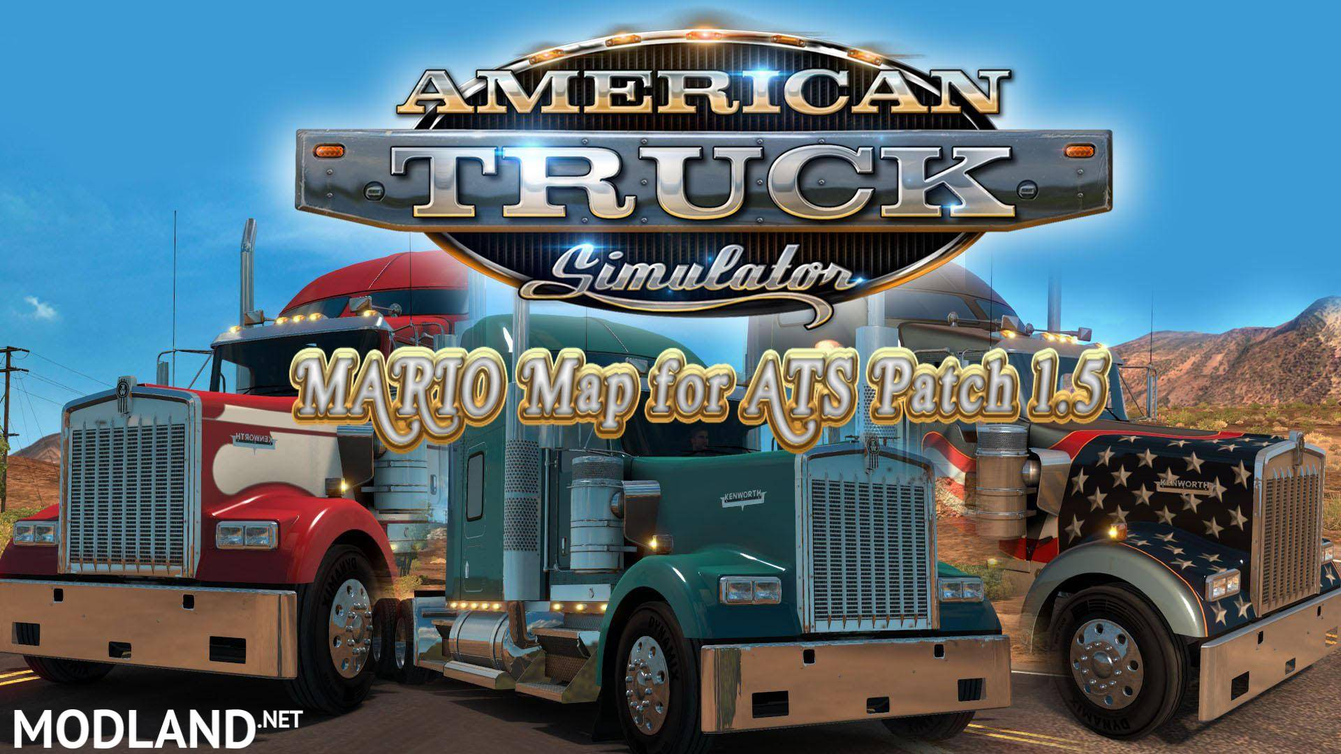 Mario ATS Map v1 5 2 for v1 5 mod for American Truck