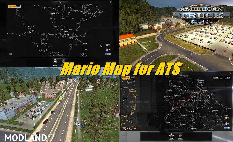 Mario Map for ATS ompatible DLC New