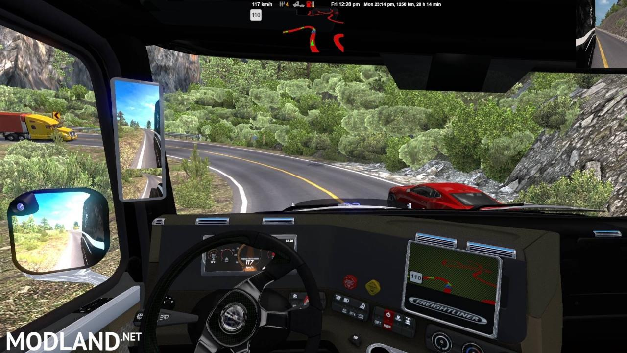 ATS 1.38 - 150kph+ Mountain runs!!!  6x2 FWD chassis for Knight Rider Freightliner