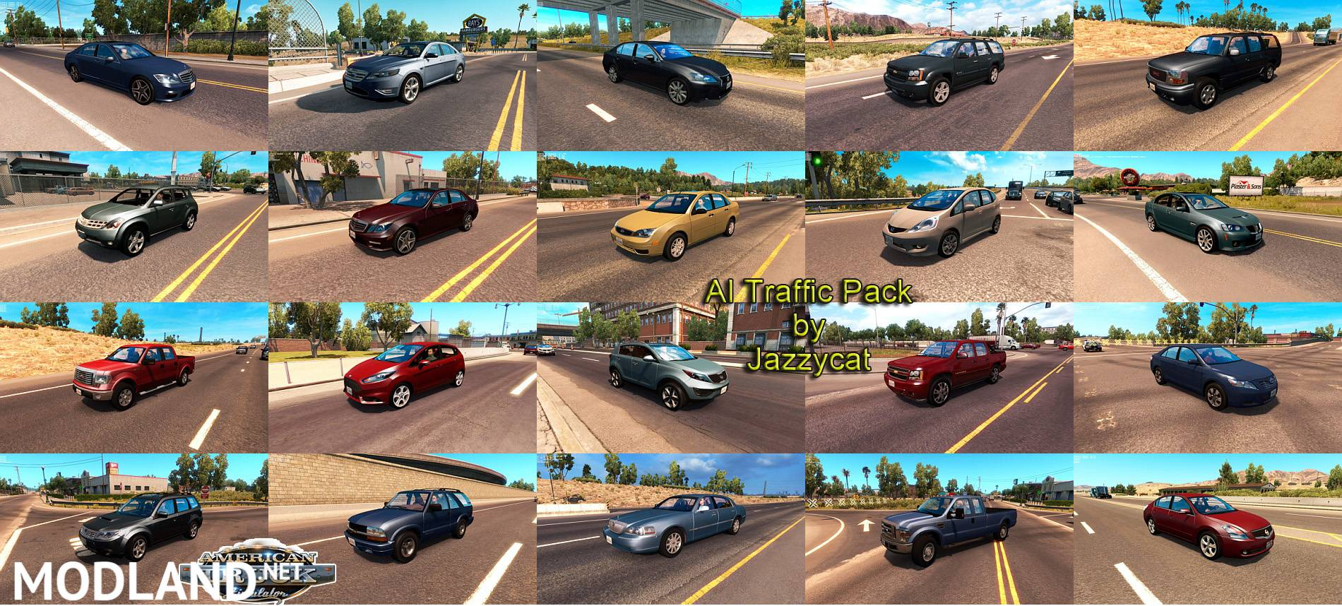 AI Traffic Pack by Jazzycat v1 7 mod for American Truck