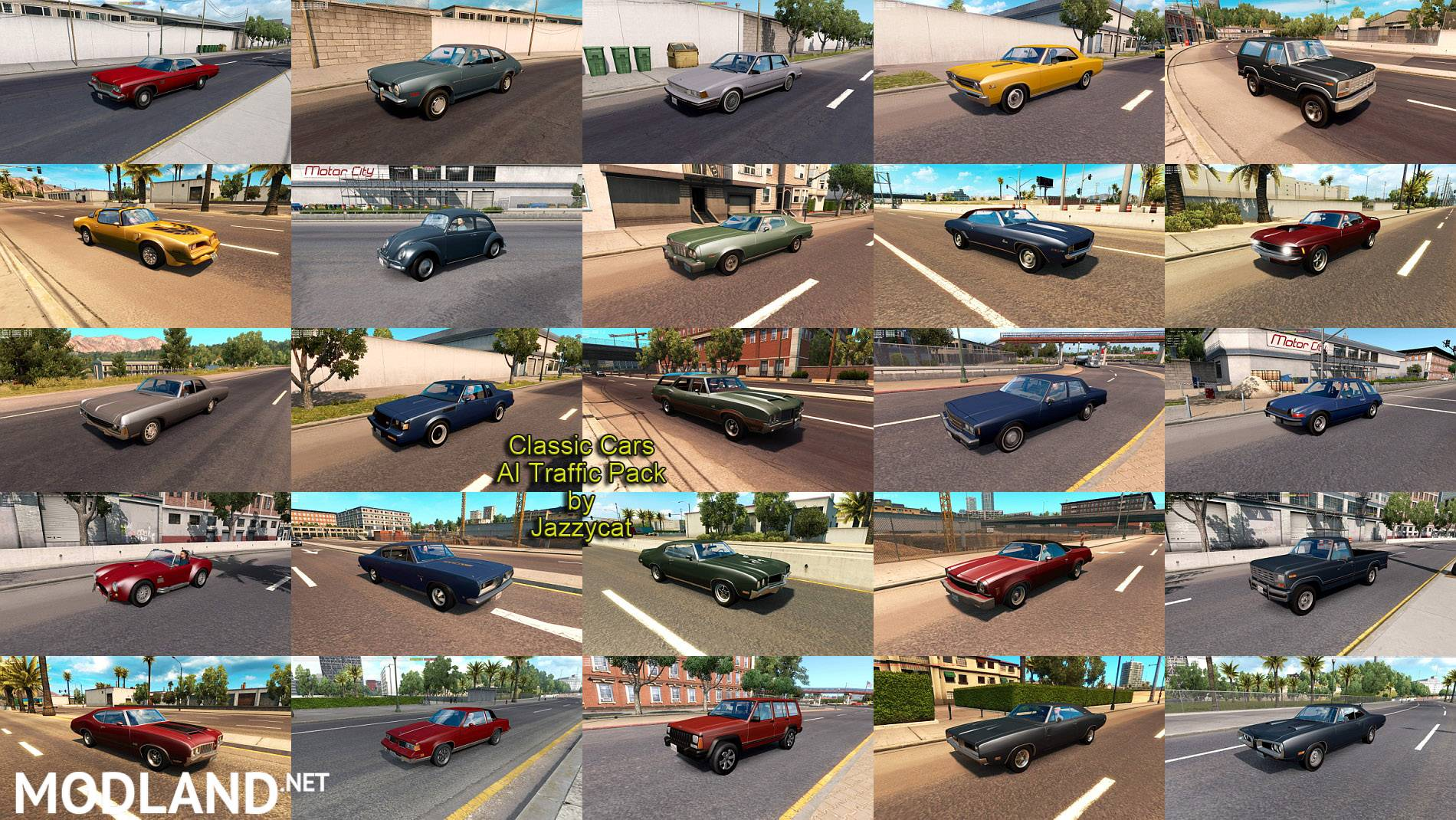 Classic Cars AI Traffic Pack By Jazzycat V 3.3 Mod For