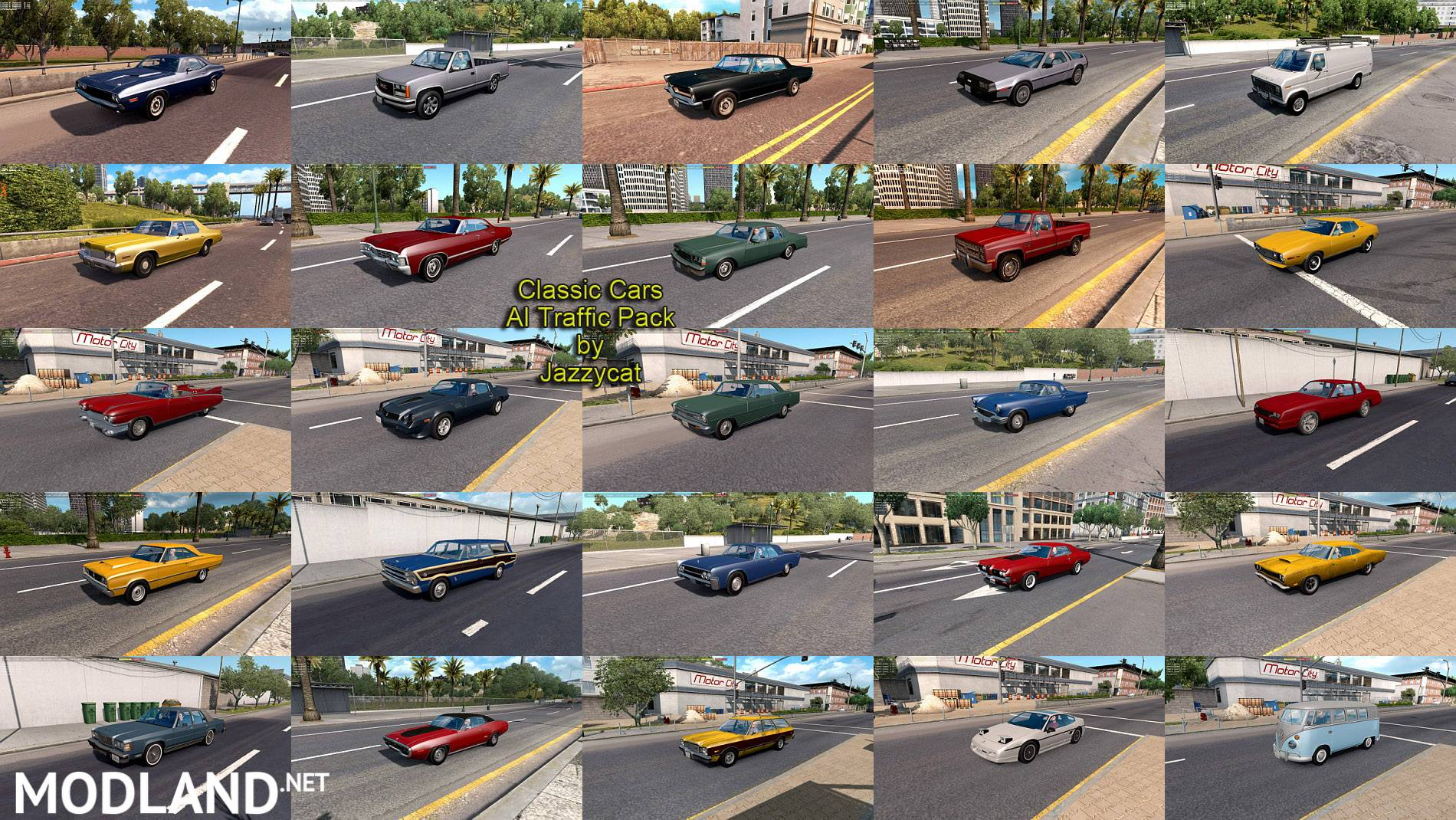 Classic Cars AI Traffic Pack By Jazzycat V 4.6 Mod For