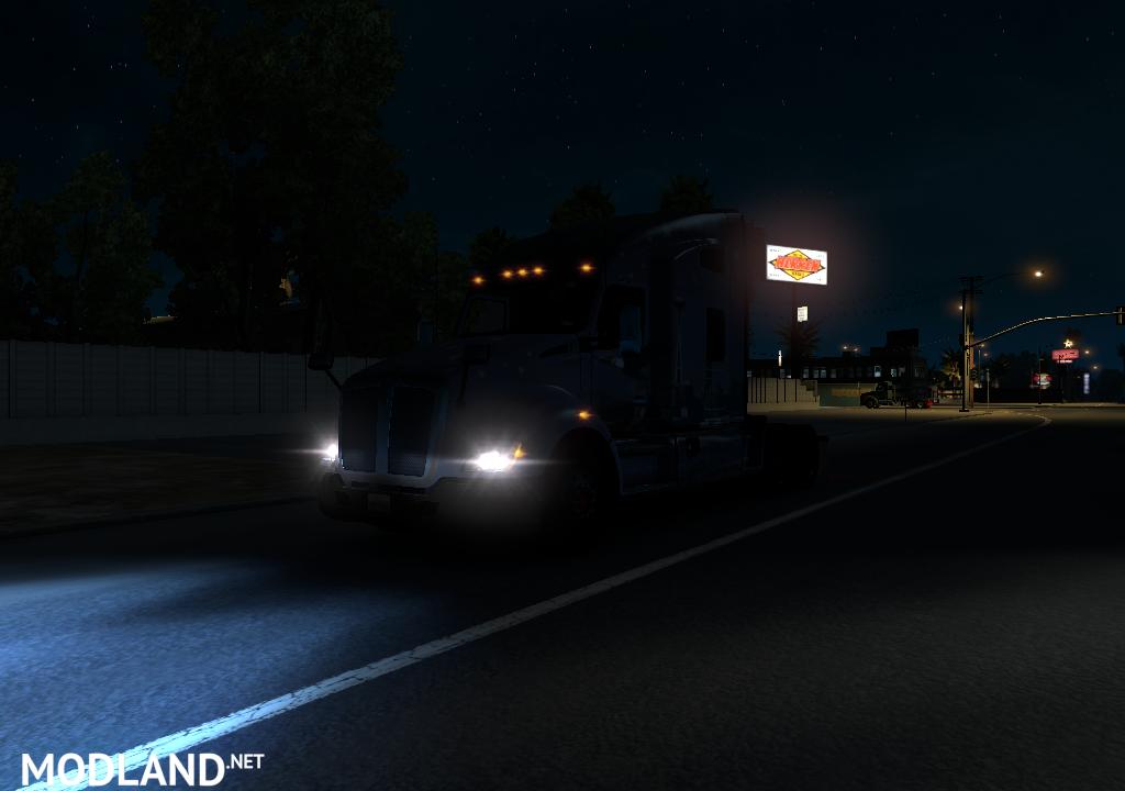 Xenon Lights Mod v 2.0 mod for American Truck Simulator, ATS