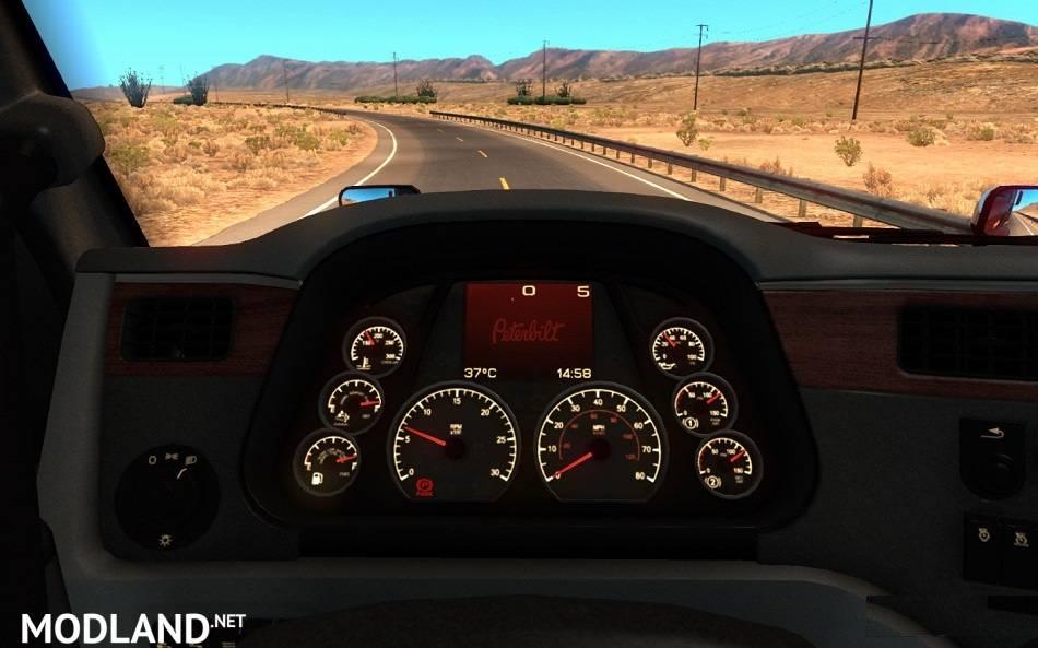2017 Peterbilt 579 >> Peterbilt 579 Dashboard mod for American Truck Simulator, ATS