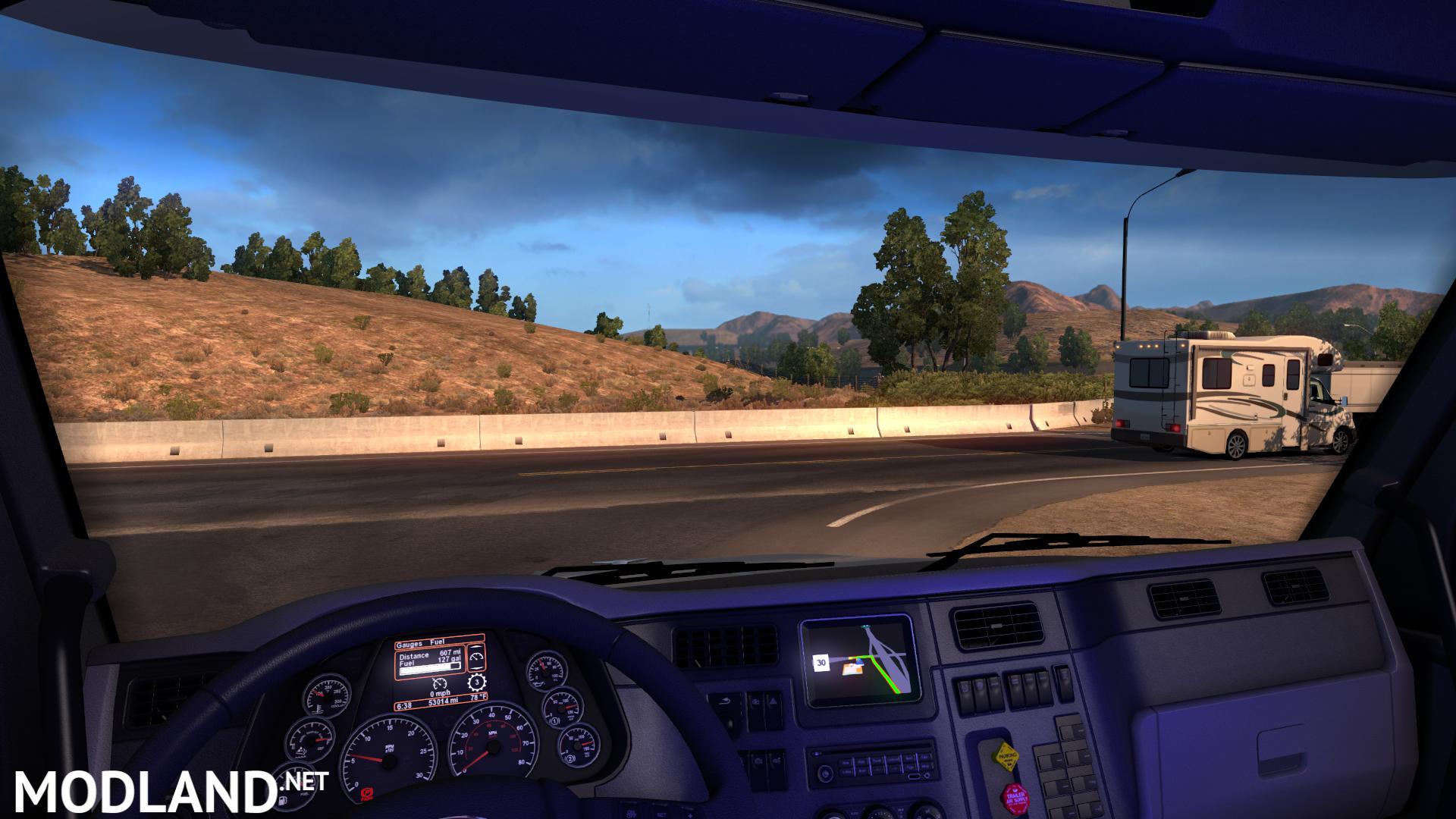 Cabin Interior Light mod for American Truck Simulator, ATS