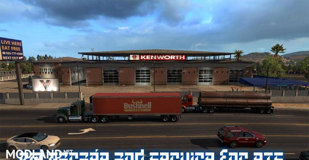 Big Garage And Service For Ats Mod For American Truck