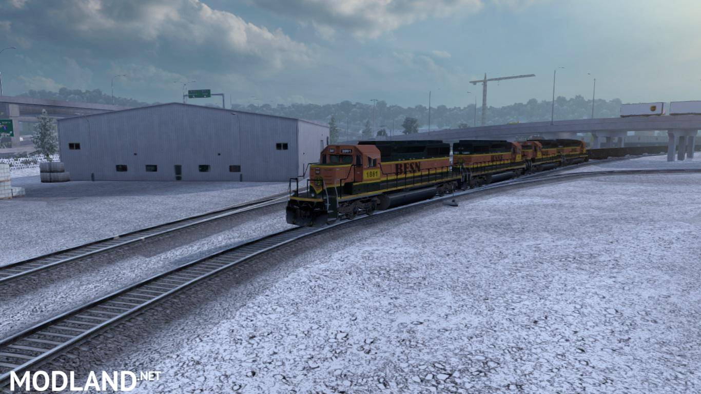 Improved Trains v 3 0 for ATS 1 35 x mod for American Truck