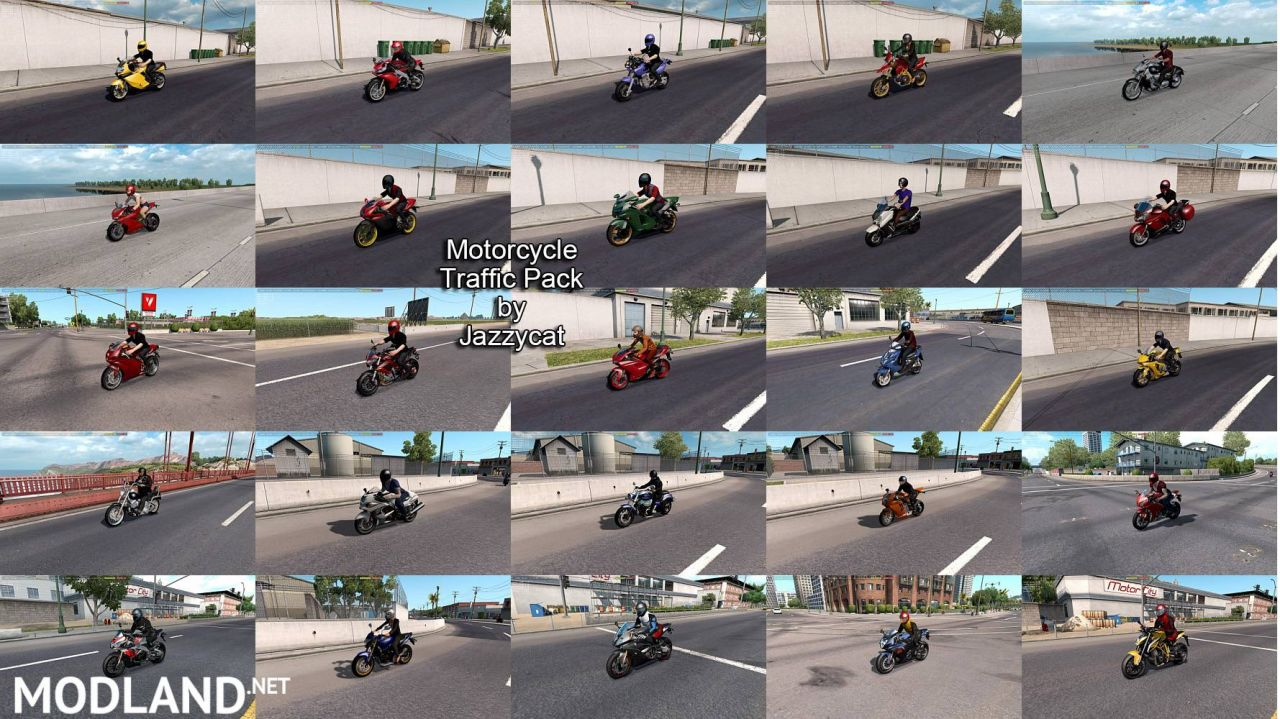 Motorcycle Traffic Pack (ATS) by Jazzycat